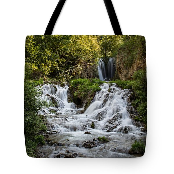 Tote Bag featuring the photograph Roughlock Falls South Dakota by Patti Deters