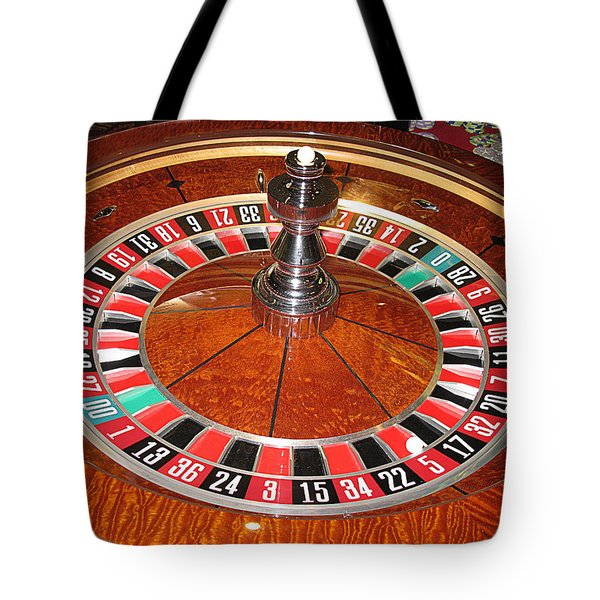 Roulette Wheel And Chips Tote Bag