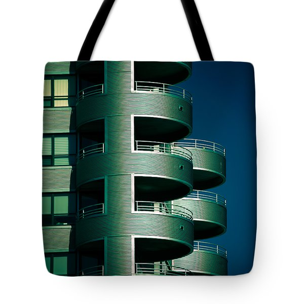 Round And Round Up And Down Tote Bag by Christi Kraft