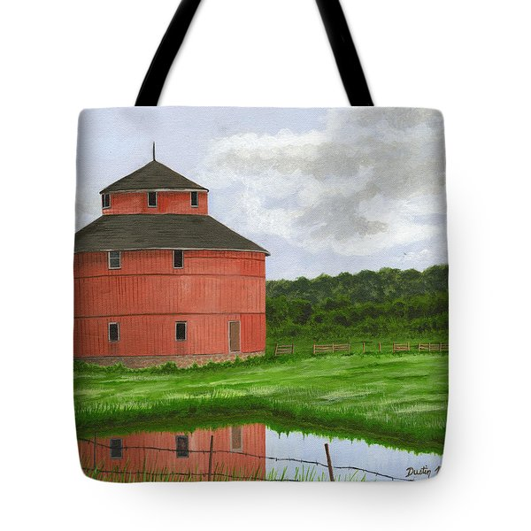 Round Barn Tote Bag