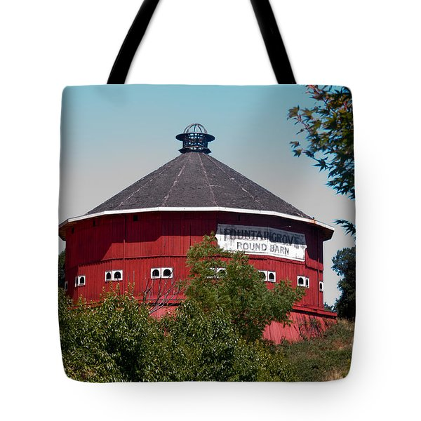 Round Barn Named Tote Bag