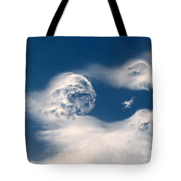 Round Clouds Tote Bag