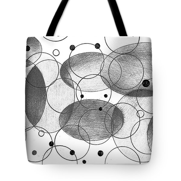 Tote Bag featuring the drawing Round by Mary Bedy