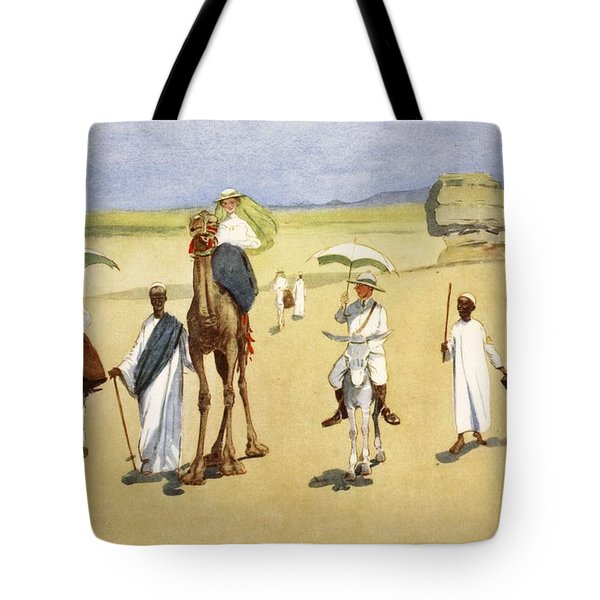 Round The Pyramids, From The Light Side Tote Bag by Lance Thackeray