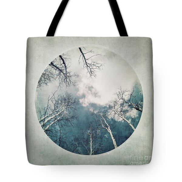 round treetops III Tote Bag by Priska Wettstein