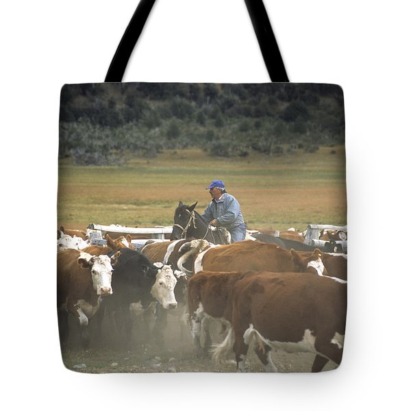 Cattle Round Up Patagonia Tote Bag by James Brunker
