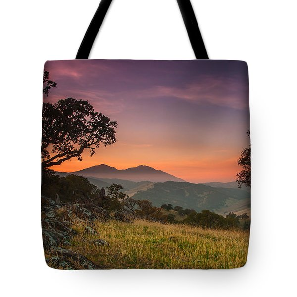 Round Valley After Sunset Tote Bag