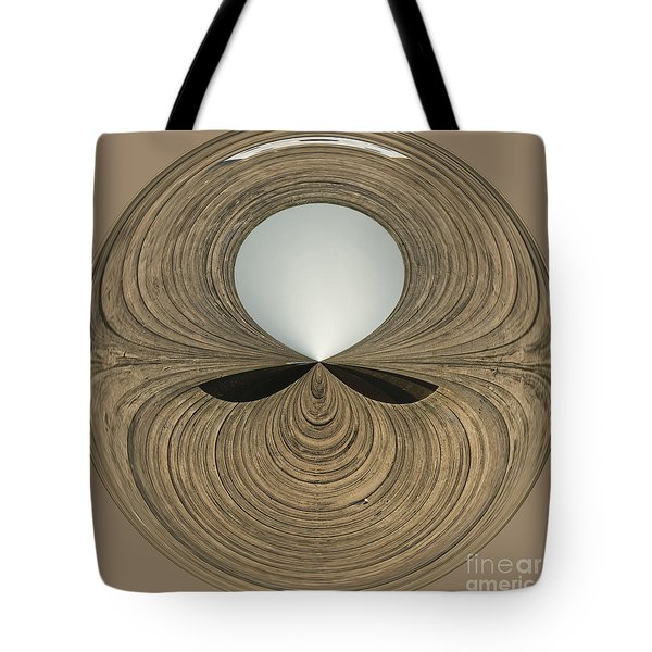 Round Wood Tote Bag by Anne Gilbert