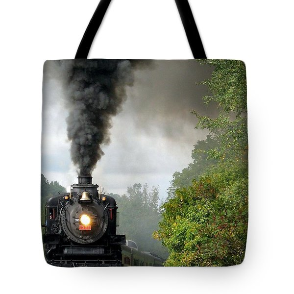 Steamin' In The Valley Tote Bag