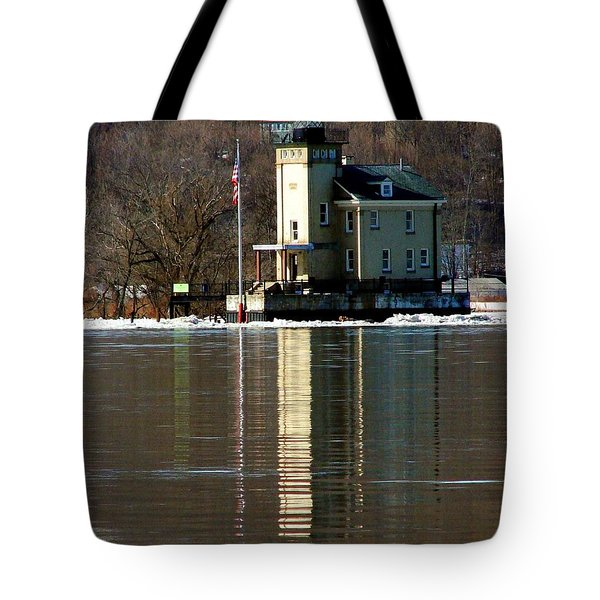 Roundout Lighthouse Tote Bag