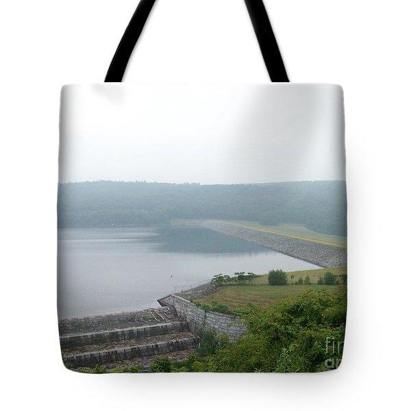 Roundout Reservoir Dam Tote Bag