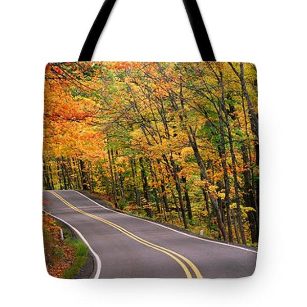 Route 41 Keweenaw Peninsula Nr Copper Tote Bag