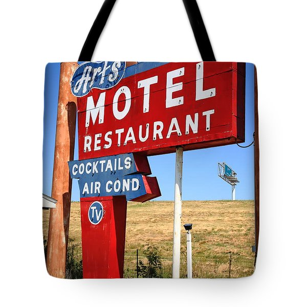 Route 66 - Art's Motel Tote Bag