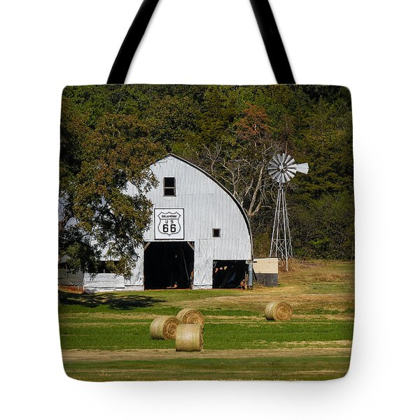 Route 66 Barn Tote Bag