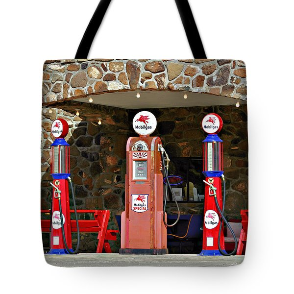 Route 66 - Cool Springs Camp Az Tote Bag by Christine Till