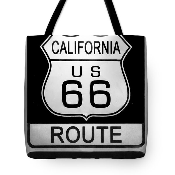 Route 66 End Tote Bag by Chuck Staley