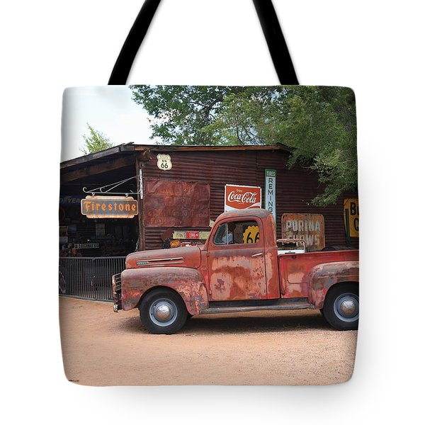 Route 66 Garage And Pickup Tote Bag