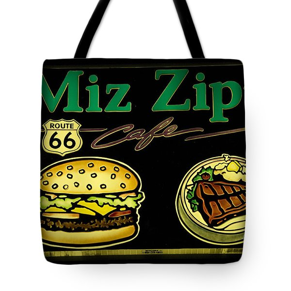 Route 66 Miz Zips Tote Bag by Bob Christopher