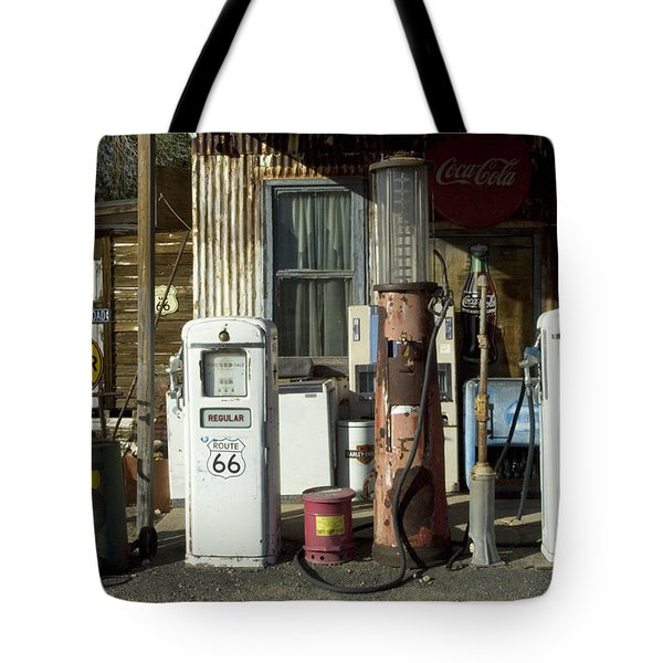 Route 66 Pumps Tote Bag by Bob Christopher