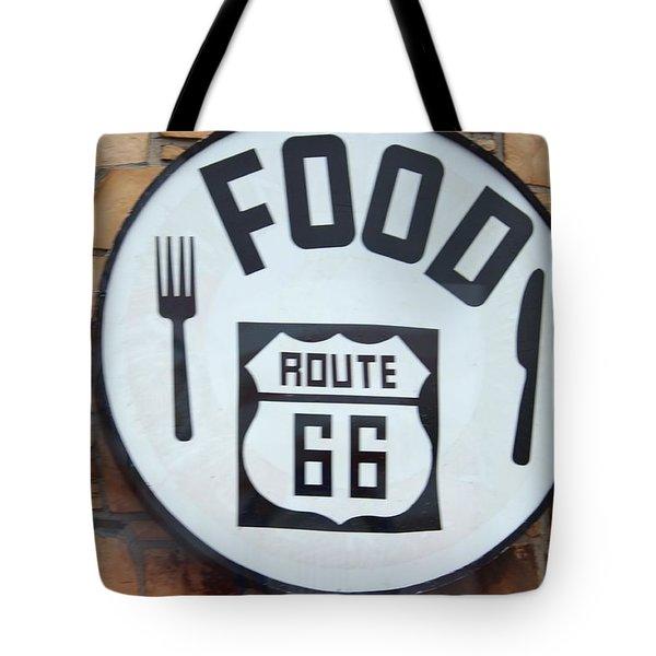 Route 66 Restaurant  Tote Bag by Cynthia Guinn