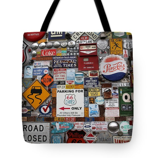 Route 66 Signs Tote Bag by Lynn Sprowl