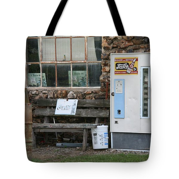 Route 66 Sinclair Gas Station Tote Bag by Frank Romeo