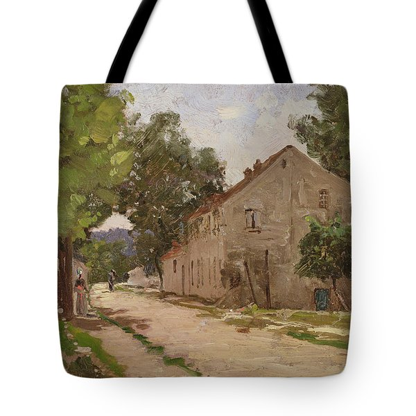 Route De Port-marly, C.1860-67 Tote Bag by Camille Pissarro