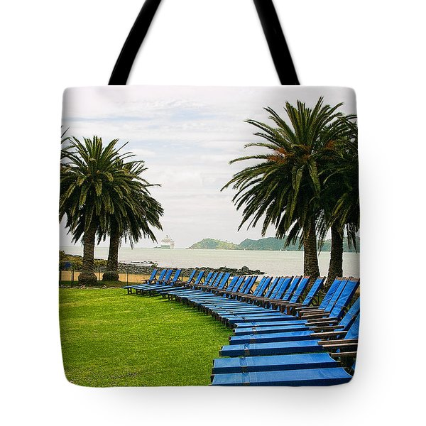 Row Of Blue Tote Bag