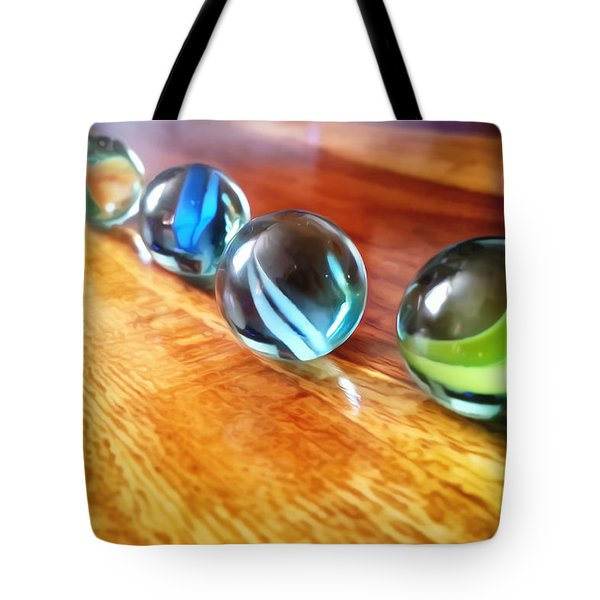Row Of Marbles Tote Bag