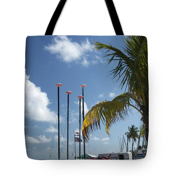 Row Of Sailboats Tote Bag