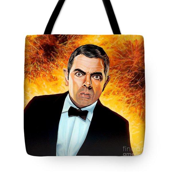 Rowan Atkinson Alias Johnny English Tote Bag
