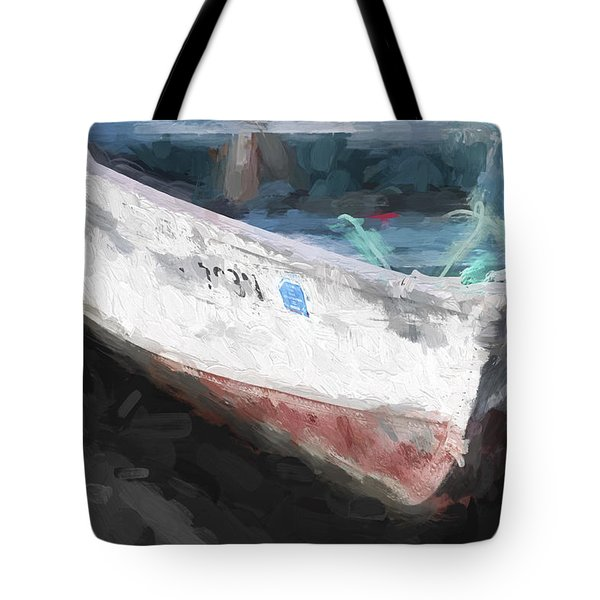 Rowboat Painterly Effect Tote Bag