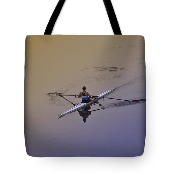 Rower Tote Bag by Bill Cannon