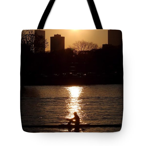 Rower Sunrise Tote Bag by Kenny Glotfelty