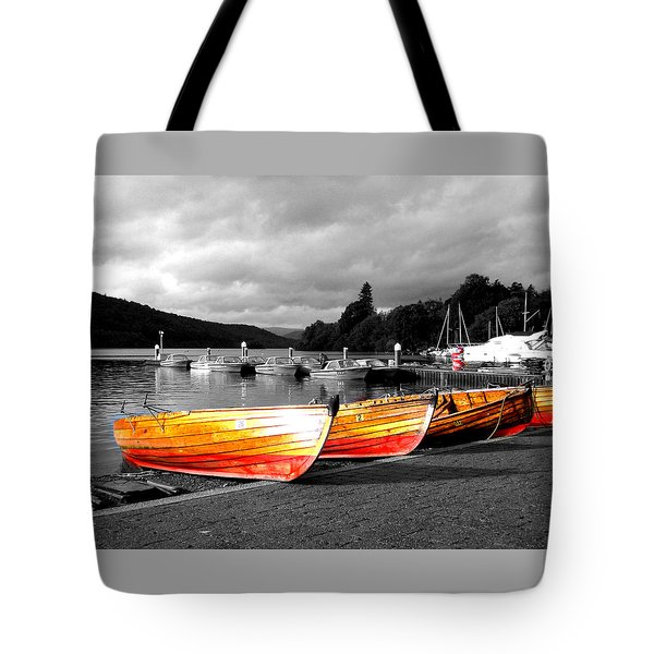 Rowing Boats Ready For Work Tote Bag