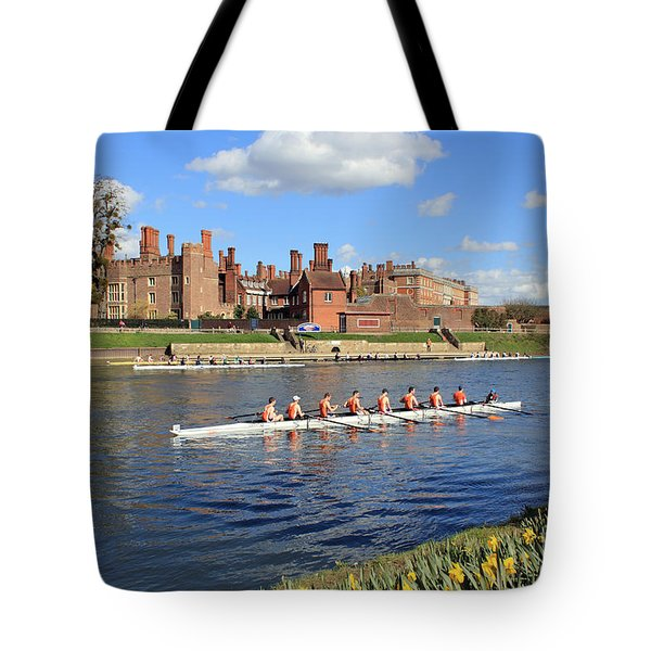 Rowing On The Thames At Hampton Court Tote Bag