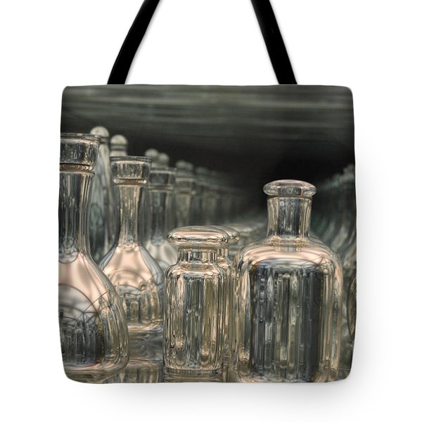 Tote Bag featuring the photograph Rows Of Bottles by Randi Grace Nilsberg