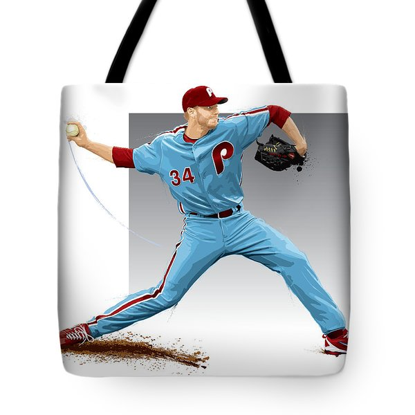 Roy Halladay Tote Bag by Scott Weigner