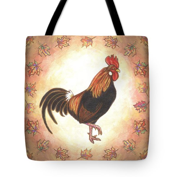 Roy The Rooster Two Tote Bag by Linda Mears