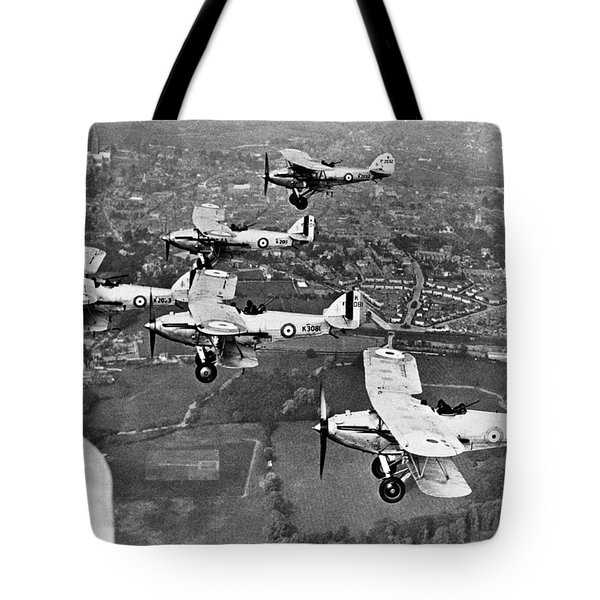 Royal Air Force Formation Tote Bag by Underwood Archives