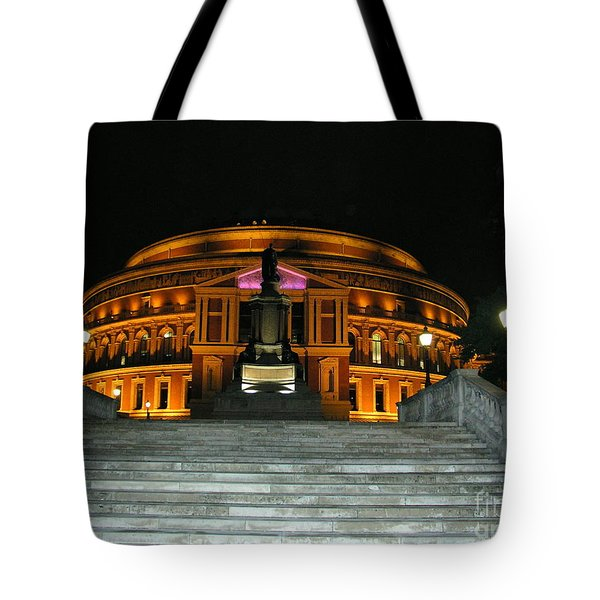 Tote Bag featuring the photograph Royal Albert Hall At Night by Bev Conover