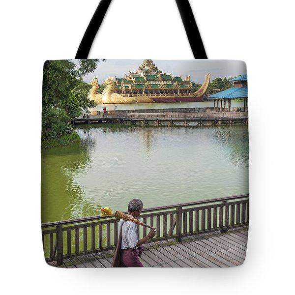 Royal Barge In Yangon Myanmar  Tote Bag