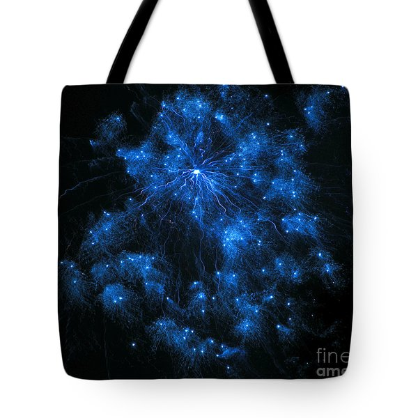 Royal Blue Fireworks Tote Bag