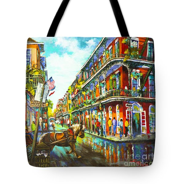 Tote Bag featuring the painting Royal Carriage - New Orleans French Quarter by Dianne Parks