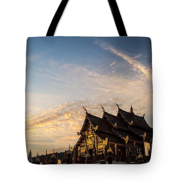 Royal Park Rajapruek On Sunset Tote Bag by Setsiri Silapasuwanchai