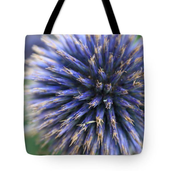 Royal Purple Scottish Thistle Tote Bag by Peta Thames