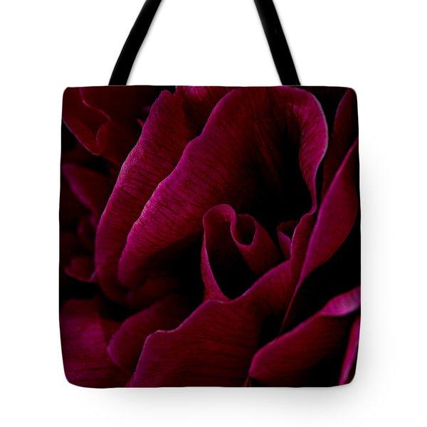 Royal Red Peony Tote Bag