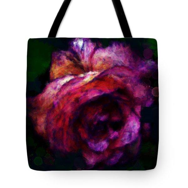 Royal Rose Painted Tote Bag