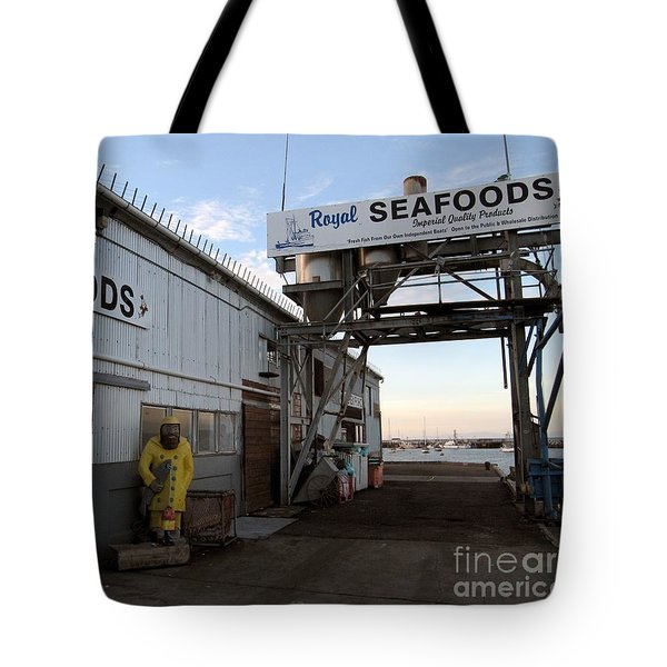 Tote Bag featuring the photograph Royal Seafoods Monterey by James B Toy
