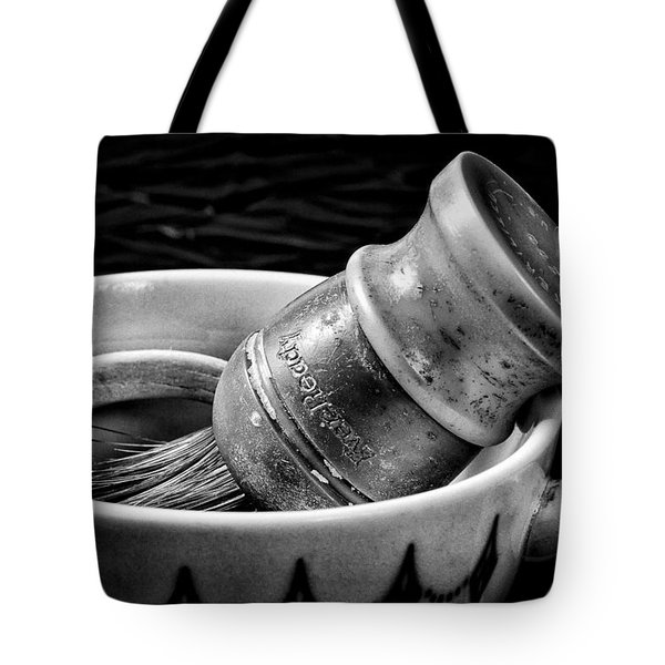 Roy's Shaving Mug I Tote Bag by Jeff Burton